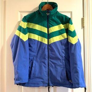 Roxy // Retro Stripe Zip Up Snowboard Ski Jacket